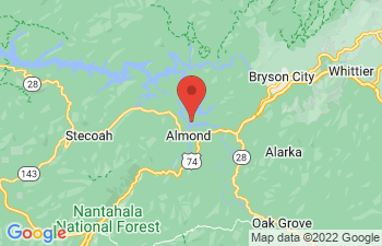 Map of Nantahala Lake Area