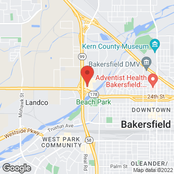 Map of Arby's at 2610 Buck Owens Blvd, Bakersfield, CA 93308