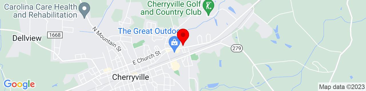Google Map of 35.3866105, -81.3639239