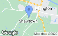 Map of Lillington, NC