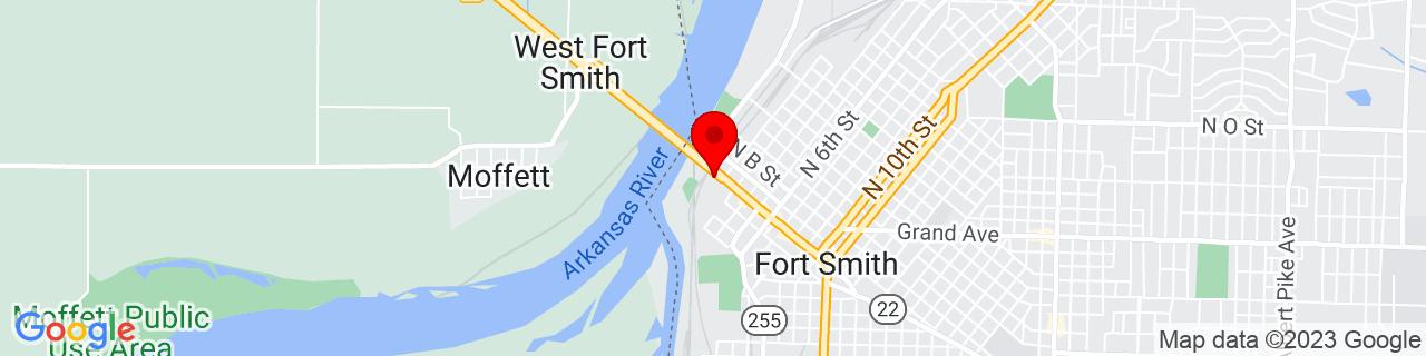 Google Map of 35.389717, -94.42967800000001