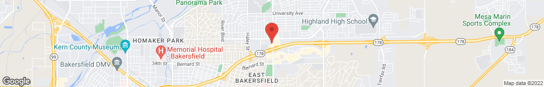 Map of 2684 Mt. Vernon Ave in Bakersfield