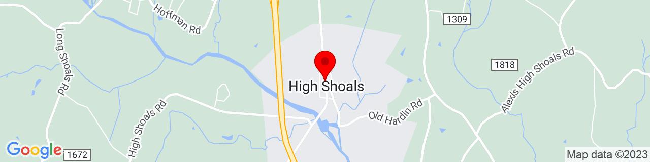 Google Map of 35.402499999999996, -81.20222222222222