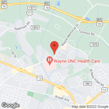 Map of State Employees' Credit Union at 2811 Wayne Memorial Dr, Goldsboro, NC 27534