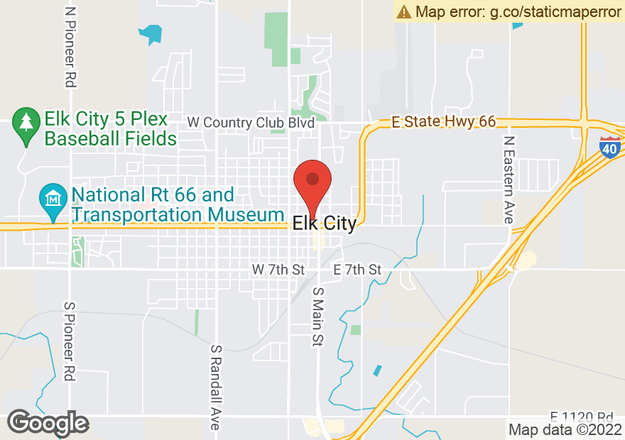 Google Map of 115 W 3RD ST
