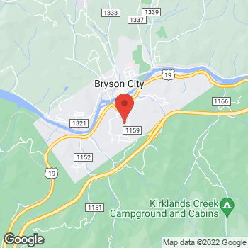Map of Arby's at 214 Veterans Blvd, Bryson City, NC 28713