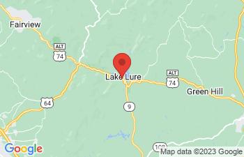 Map of Lake Lure
