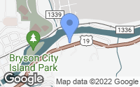 Map of Bryson City, NC