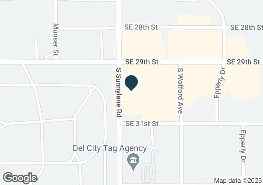 Google Map of4300 SE 29TH ST