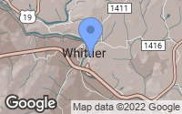Map of Whittier, NC