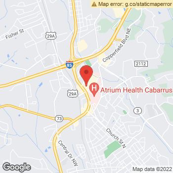 Map of Sears Optical at 1480 Cncrd Pkwy No, Concord, NC 28025