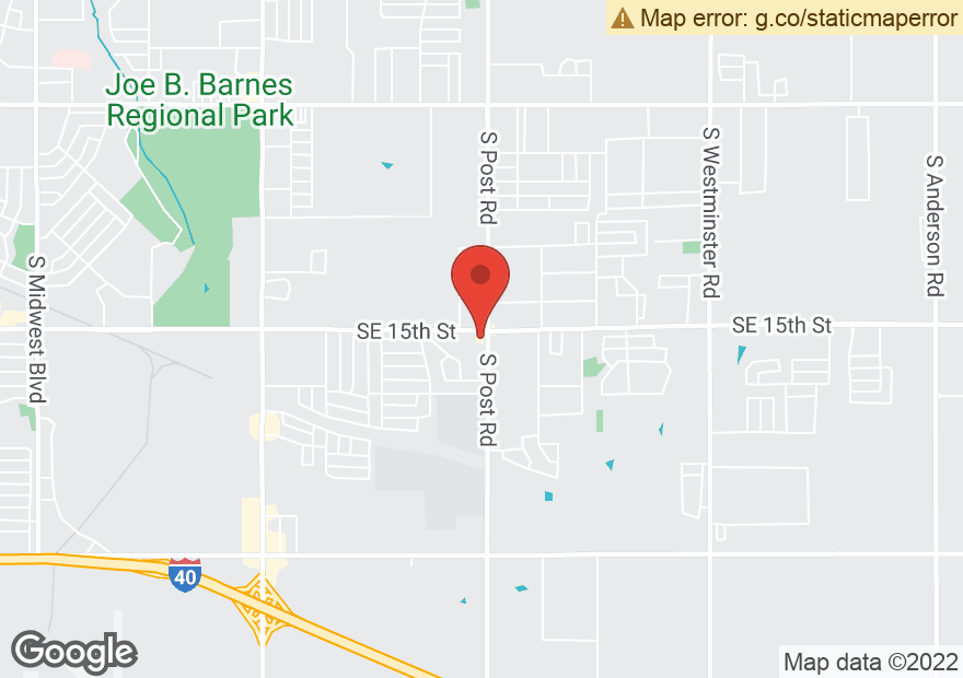Google Map of 9950 SE 15TH ST