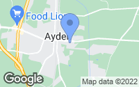 Map of Ayden, NC