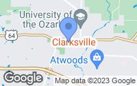 Map of Clarksville, AR