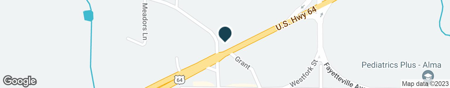 Google Map of323 HIGHWAY 64 E