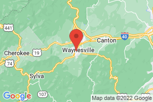 Map of Maggie Valley and Waynesville Area