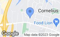 Map of Cornelius, NC