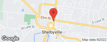 Map of 635 N Main St in Shelbyville