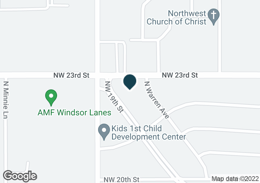 Google Map of4400 NW 23RD ST