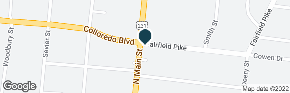 Google Map of826 N MAIN ST