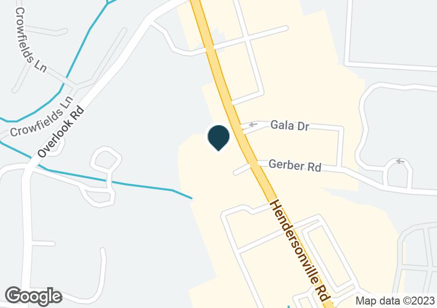 Google Map of1835 HENDERSONVILLE RD