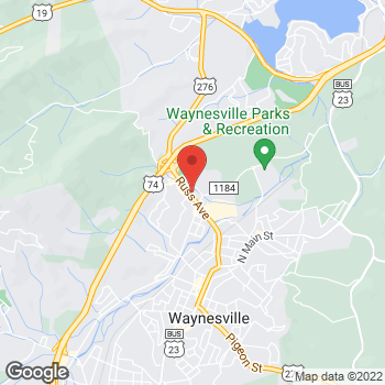 Map of Arby's at 710 Russ Ave, Waynesville, NC 28786