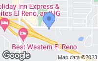 Map of El Reno, OK