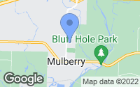 Map of Mulberry, AR