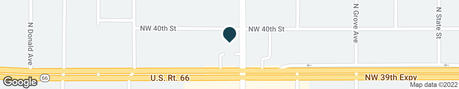 Google Map of5901 NW 39TH ST