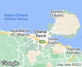 Cruises in Chania with Boat map