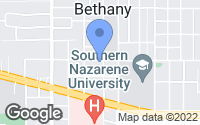 Map of Bethany, OK
