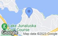 Map of Lake Junaluska, NC