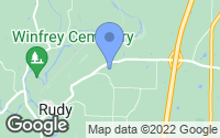 Map of Rudy, AR