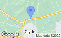 Map of Clyde, NC