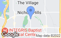Map of Nichols Hills, OK