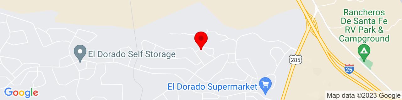 Google Map of 35.54865, -105.90891