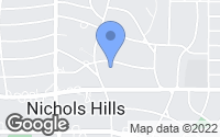 Map of Nichols Hills, OK
