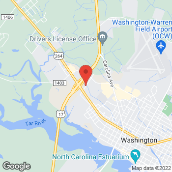 Map of State Employees' Credit Union at 152 Whispering Pines Rd, Washington, NC 27889