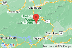 Map of North Carolina Smoky Mountains