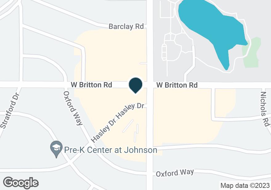 Google Map of2100 W BRITTON RD