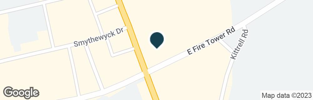 Google Map of2105 E FIRE TOWER RD