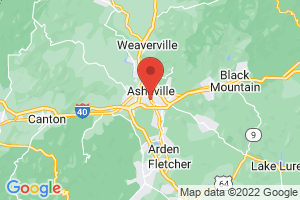 Map of Asheville Area