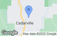 Map of Cedarville, AR