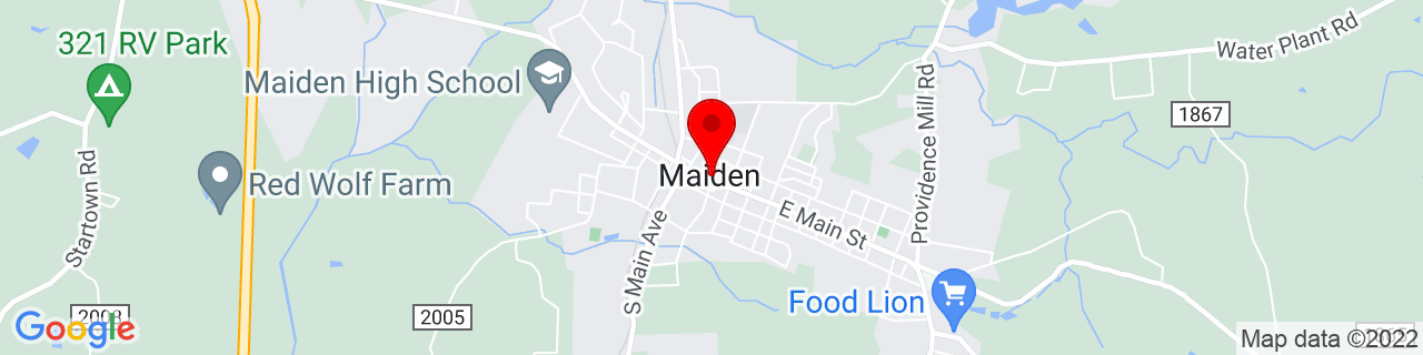 Google Map of 35.57555555555556, -81.21166666666667
