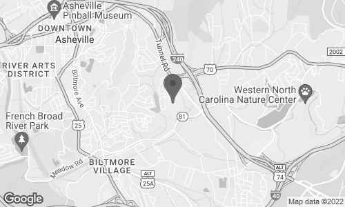 Map of 3 South Tunnel Road in Asheville