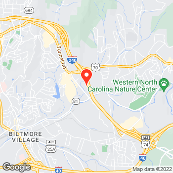 Map of Pizza en Asheville, NC – Cicis Pizza at 148 S Tunnel Rd, Asheville, NC 28805