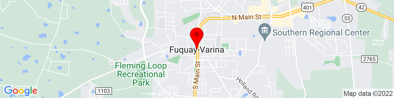 Google Map of 35.58444444444444, -78.8