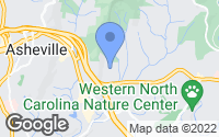 Map of Asheville, NC