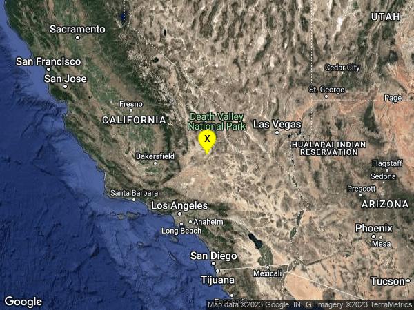earthquake 19km S of Trona, CA