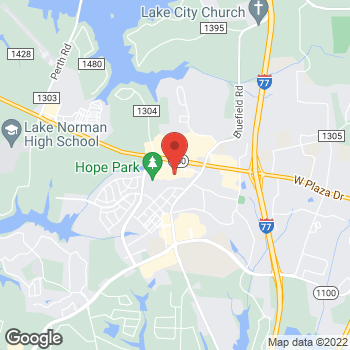 Map of Staples at 615 River Highway, Mooresville, NC 28117